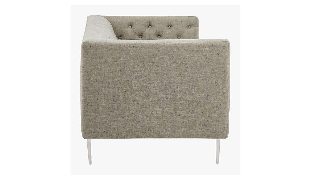 savile grey tufted sofa