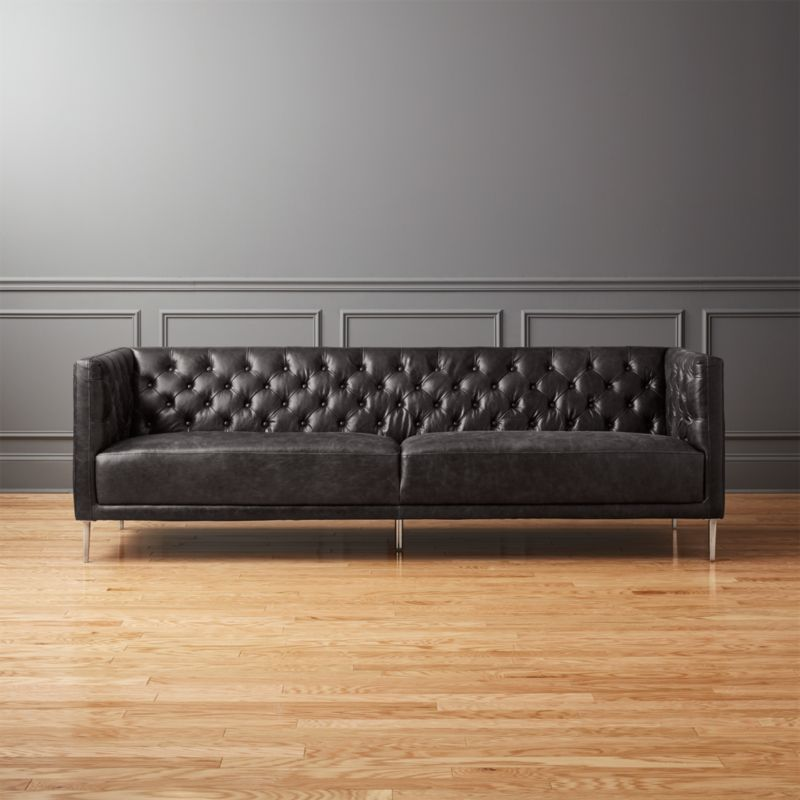 Delightful Black Leather Couch Part - 13: Black Leather Sofas | CB2