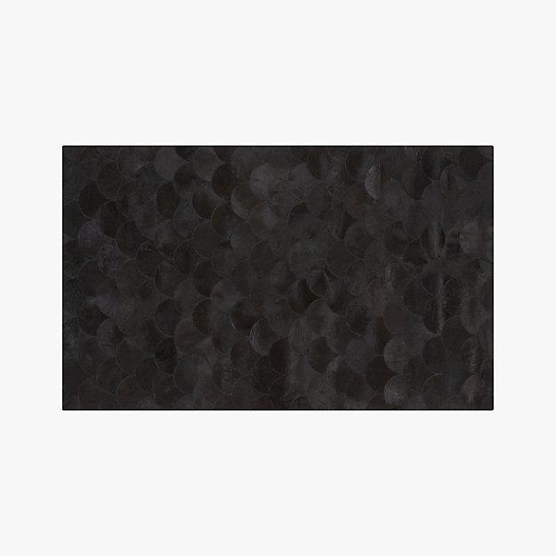 Scallop Black Hide Rug 5'x8'