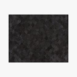 Scallop Black Hide Rug 8'x10'