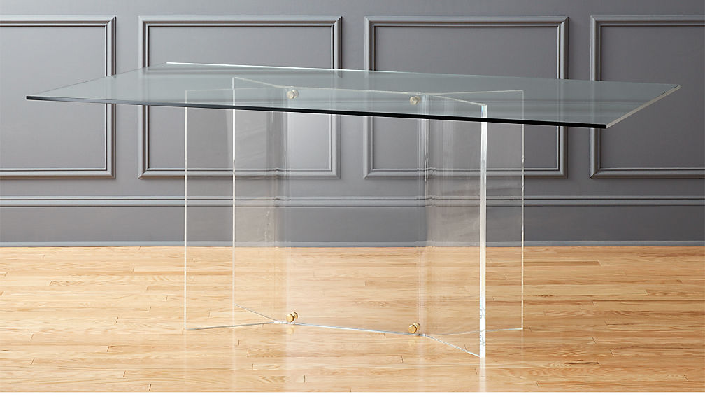 Scarpa Glass and Acrylic Dining Table | CB2
