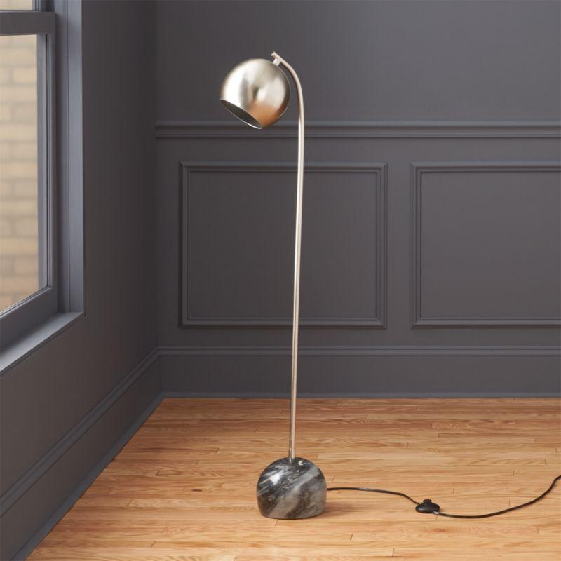Sceptre marble floor lamp cb2 for Cb2 disk floor lamp