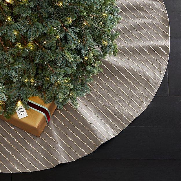 Sequin Stripe Tree Skirt