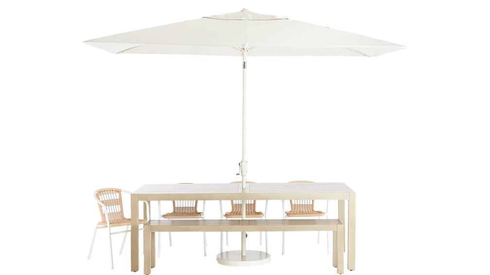 shadow rectangular sand umbrella with base