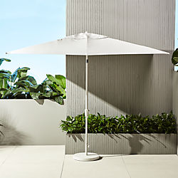 shadow rectangular sand umbrella with base