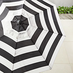 shadow round black and white stripe umbrella shade