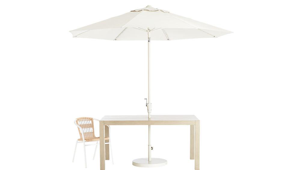 shadow round sand umbrella with base