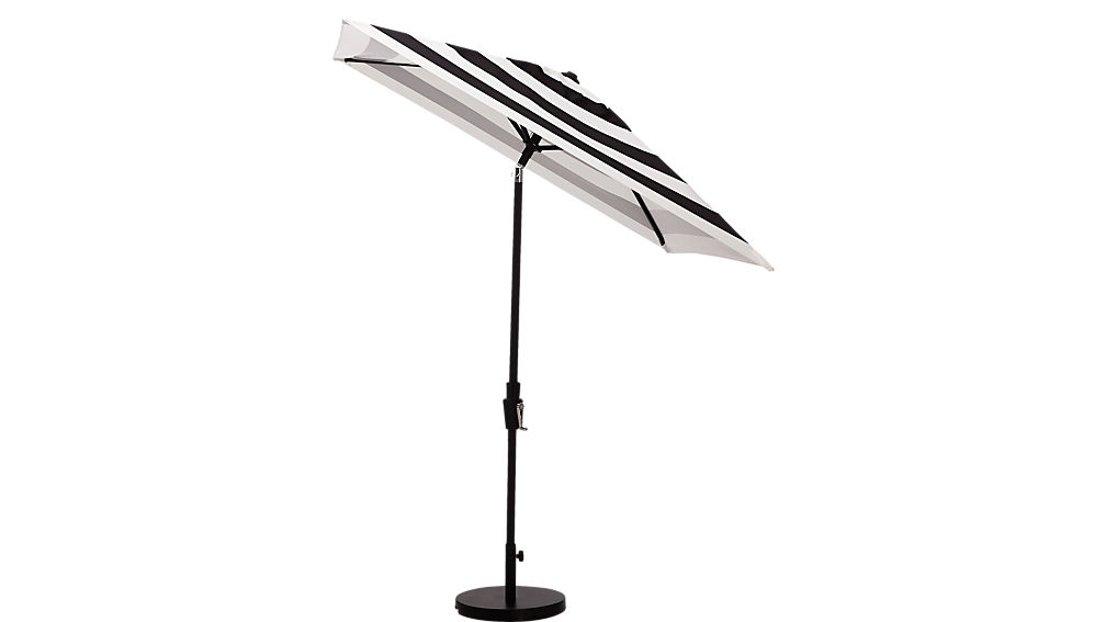 shadow black and white stripe umbrella with base