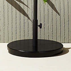 shadow round-rectangular umbrella and round sun shade black base