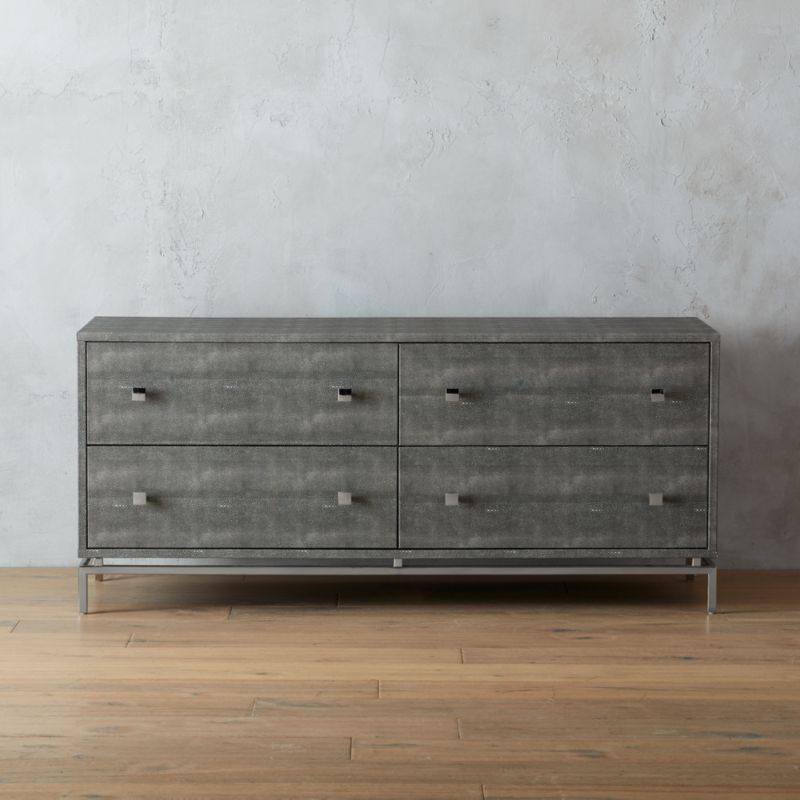 Low Embossed Shagreen Dresser Reviews Cb2