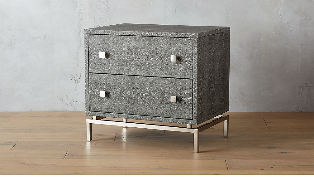 Embossed Shagreen Nightstand Reviews Cb2