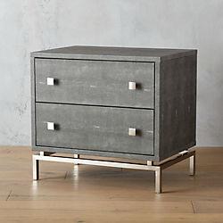 shagreen embossed nightstand