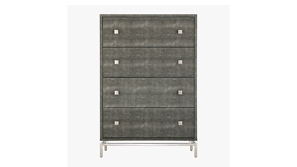 shagreen embossed tall chest
