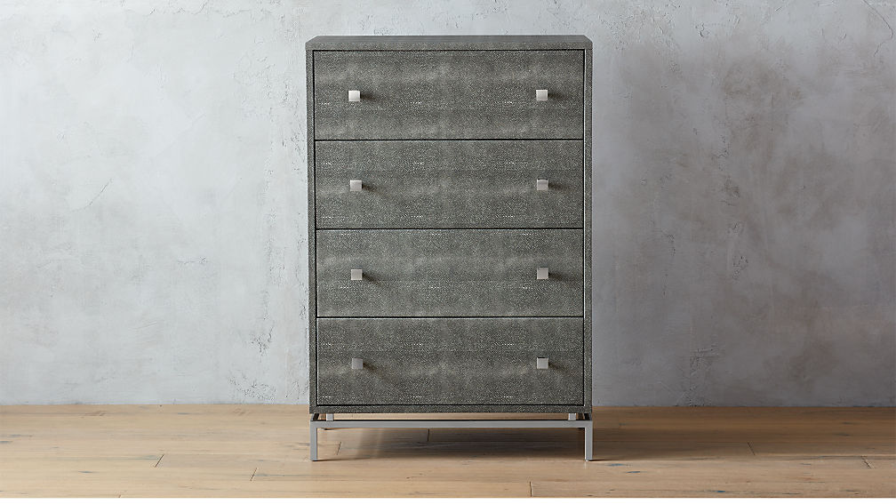 Embossed Shagreen Chest Of Drawers Reviews Cb2