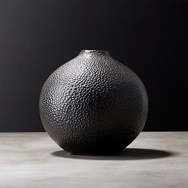 Shagreen Black Vase