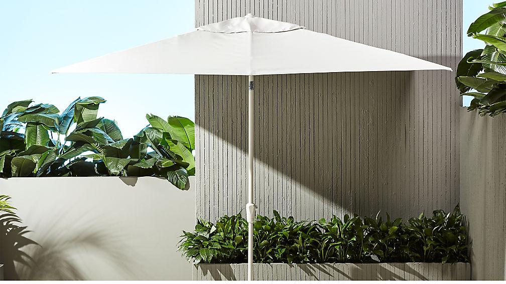 shadow rectangular sand umbrella shade with pole