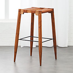 Nahla Saddle Leather Bar Stool 30""