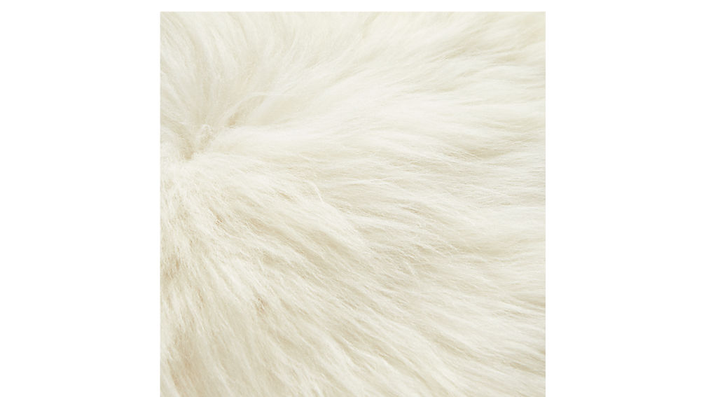 """24"""" icelandic sheepskin pillow-cushion with feather-down insert"""