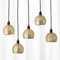 Modern chandeliers and pendant lighting cb2 shimmer pendant light aloadofball Choice Image