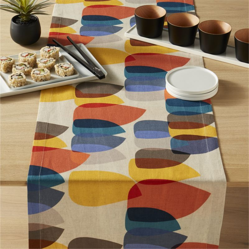 shirley table runner & patterned table linens | CB2