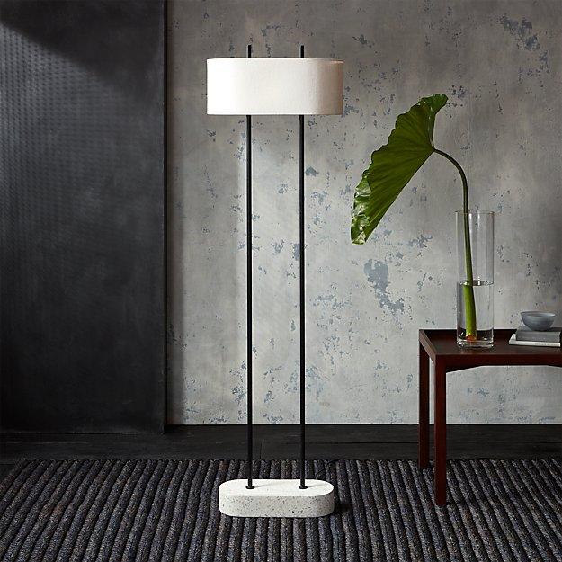Shiro floor lamp cb2 for Cb2 cast floor lamp