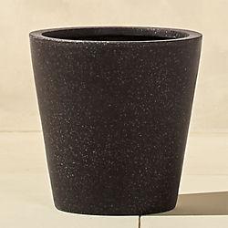 shore polyterrazzo small black planter