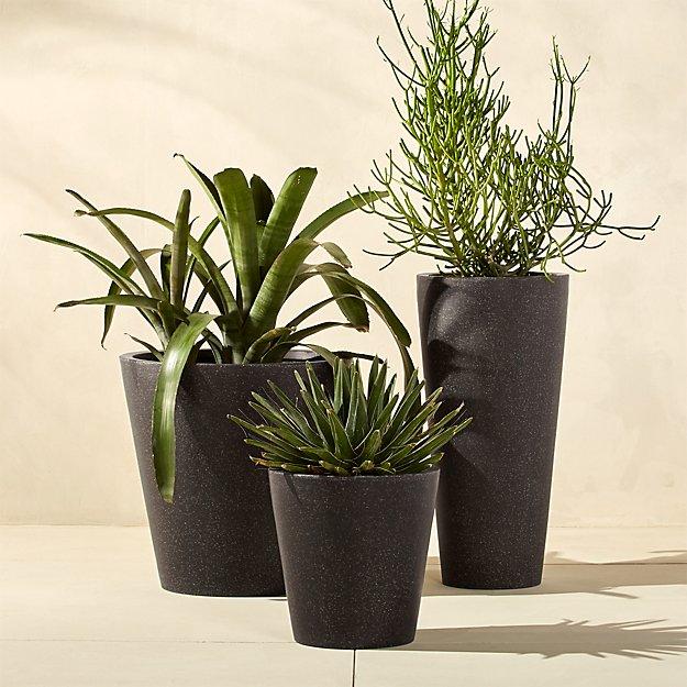 shore polyterrazzo black planters