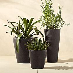 shore polyterrazo black planters