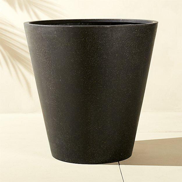 shore polyterrazzo extra large black planter