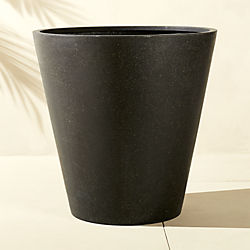 shore polyterrazzo extra large black planter