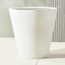shore polyterrazzo extra large white planter