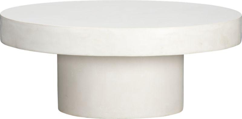 shroom low white table CB2