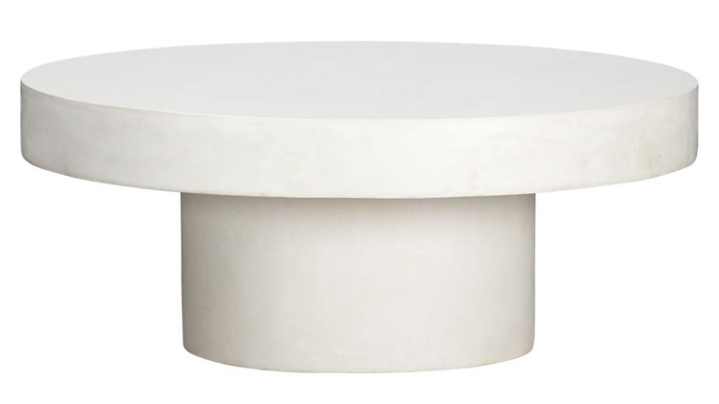 shroom white cocktail tableCB2