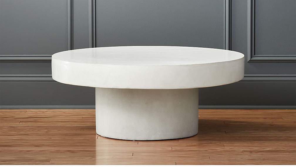 Shroom white cocktail table reviews cb2 for Cocktail tables crate and barrel