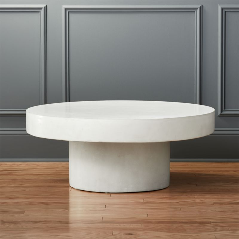 Shroom White Cocktail Table In Coffee Tables Reviews Cb2