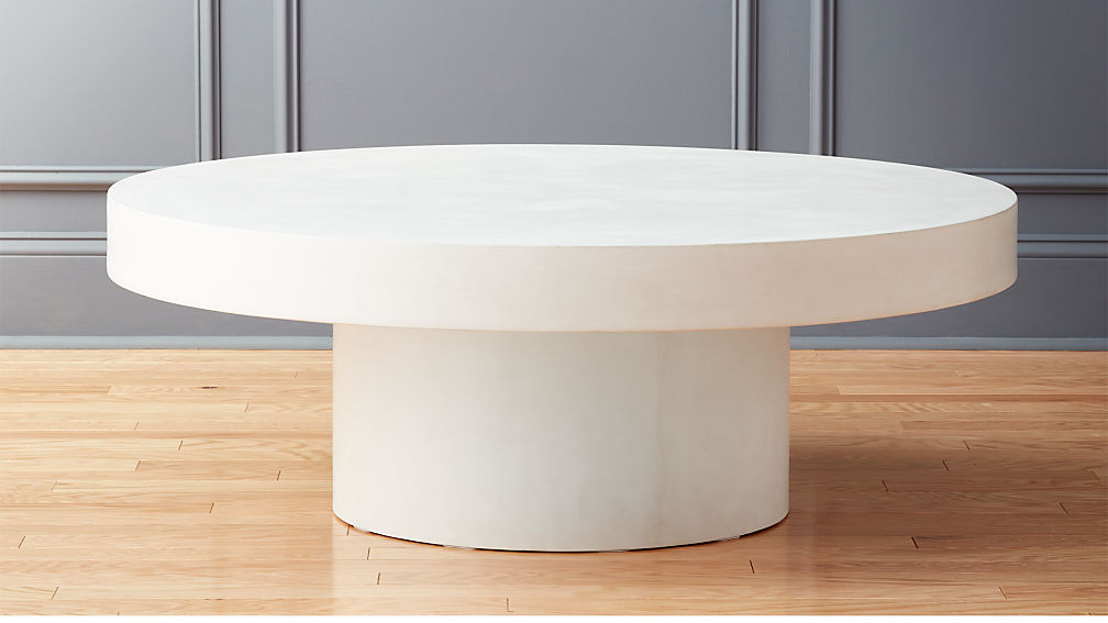 Shroom low round coffee table reviews cb2 for Cb2 round coffee table