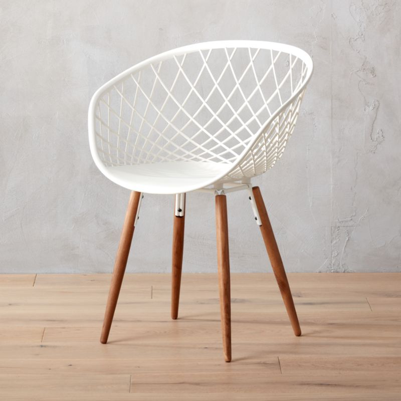 Sidera White Crosshatch Chair Reviews Cb2