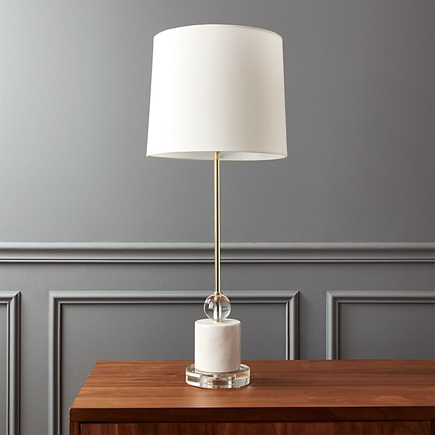 Lamp Plus Stores: Siena Marble Base Table Lamp In Table Lamps + Reviews