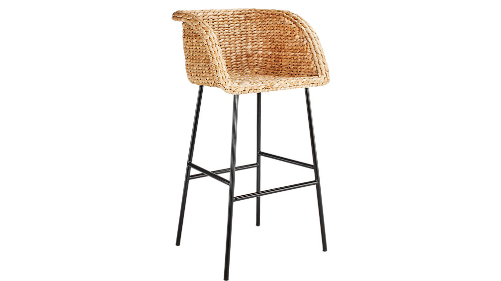 Silas Seagrass Bar Stool 30""