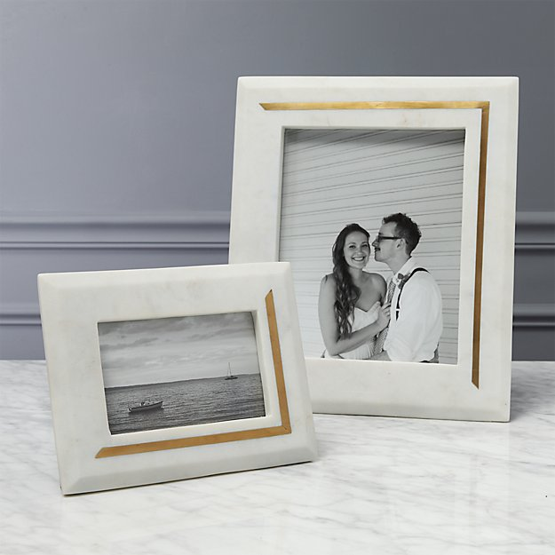 silas marble-brass picture frames