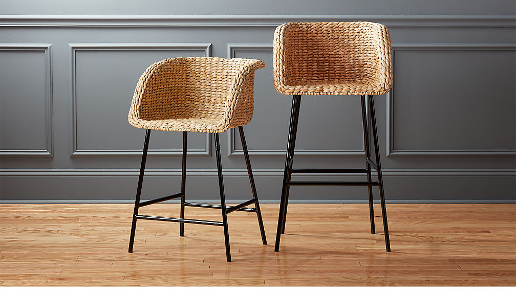 Silas Seagrass Bar Stools Cb2