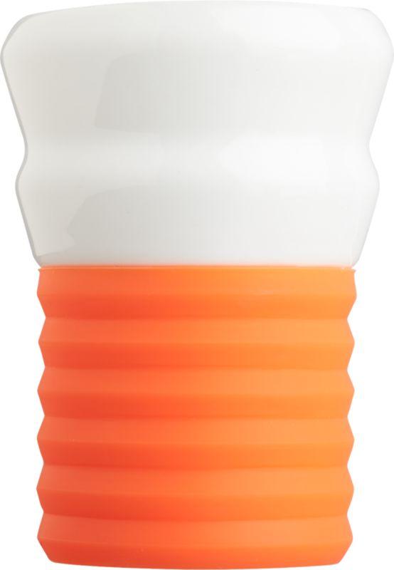 silicone neon orange espresso cup