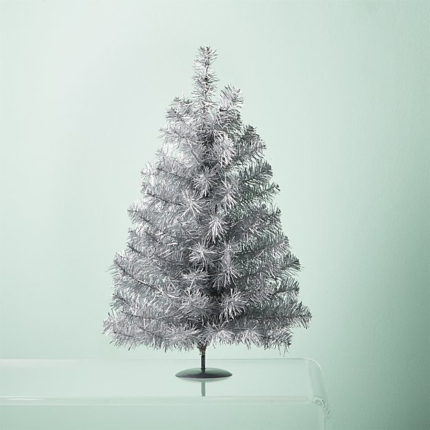 shoptagr silver tinsel tree by cb2 exclusive - Silver Tinsel Christmas Tree