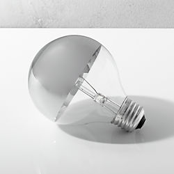 g25 silver tipped 60W light bulb