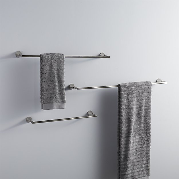 silver towel bars