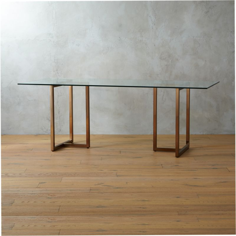Silverado Brass 80 Rectangular Dining Table