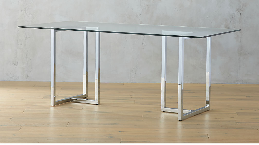 Silverado 72 Quot Chrome Dining Table In Dining Tables
