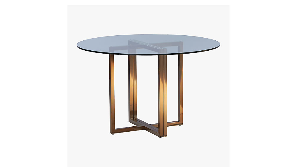 Silverado Brass 47 Quot Round Dining Table Reviews Cb2