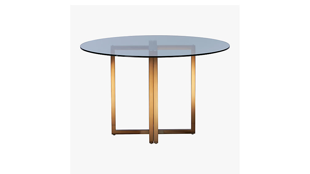 "silverado brass 47"" round dining table"