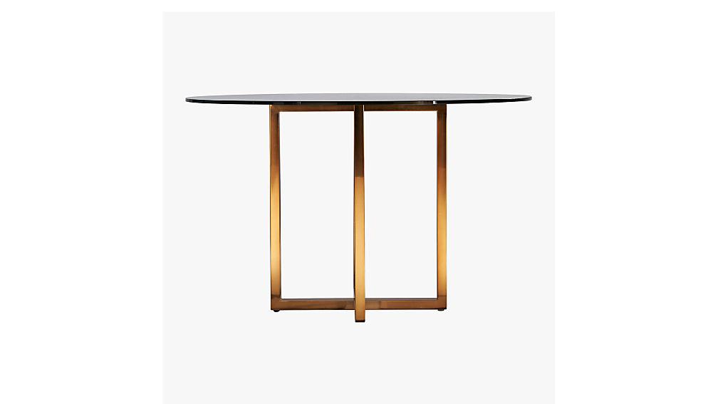 """silverado brass 47"""" round dining table"""